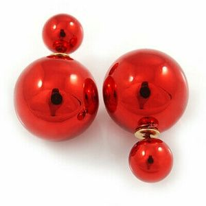 📍📍Metallic Red Double-Sided Ball Studs📍📍